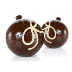 Boules de Noël en chocolat au lait sans sucre Cavalier