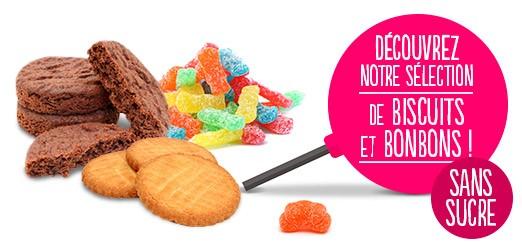 Biscuits et Bonbons sans sucre