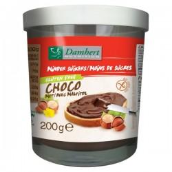 Pâte à tartiner chocolat noisettes - Maltitol Damhert 200g