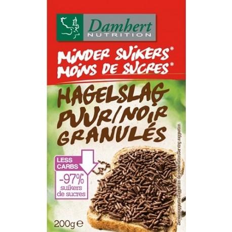 granulés de chocolat noir sans sucre ajouté