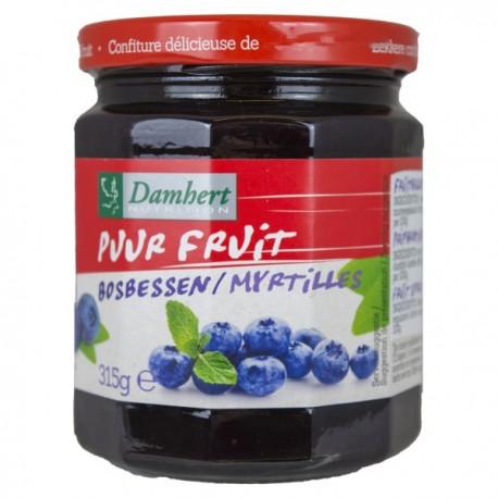 Confiture de myrtilles pur fruit 315 g - D