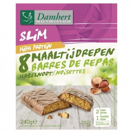 Barres repas protéinées choco / noisettes 240g - D