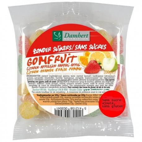 Fruits gommes sans sucre - 100 g - D