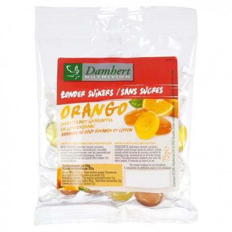 Bonbons durs Orango sans sucre ajouté - 75g - D