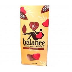 Coeurs en chocolat au lait praliné sans sucre ajouté 126g