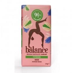 Tablette de Chocolat Belge Noir et Pistache Balance 100 g