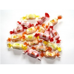 Bonbons tendres aux fruits citron, orange, fraise. 100g De Bron