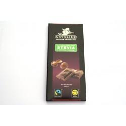 Tablette de Chocolat Belge Lait Noisettes Cavalier 85g