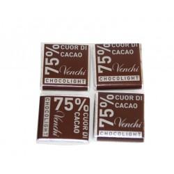 Sachet de Carrés chocolight noir 75 % - Venchi 150 g