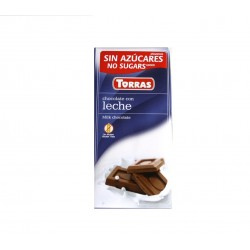 Chocolat au lait sans sucre Torras 75 g