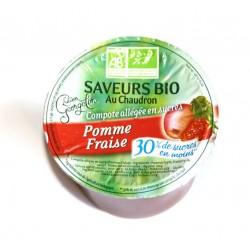 Compote bio pomme fraise 100 g