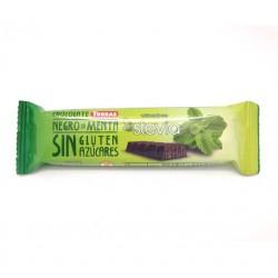 Mini-tablette chocolat noir menthe à la stévia