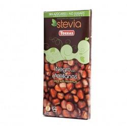 Chocolat noir noisettes stevia Torras 125 g