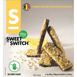 Barre de céréales à l'orange 150 g Sweet Switch