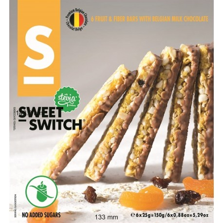 Barre de céréales fruits et fibres 150 g Sweet Switch