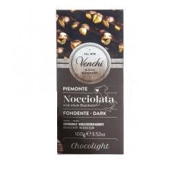 Chocolat Noir & noisettes Venchi sans sucre