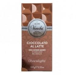 Chocolat au lait Venchi sans sucre