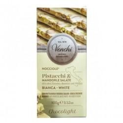 Chocolat blanc/pistaches/amandes/noisettes Venchi sans sucre