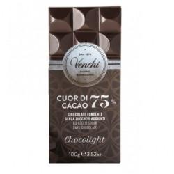 Chocolat noir Venchi 75% sans sucre