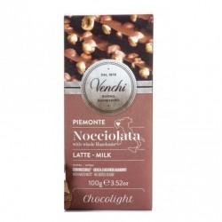 Chocolat Lait & noisettes Venchi sans sucre