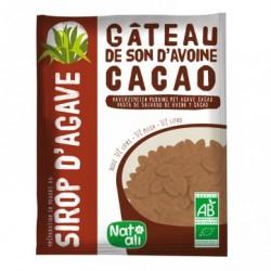 Gâteau de son d'avoine cacao au sirop d'agave