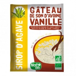 Gâteau de son d'avoine vanille au sirop d'agave