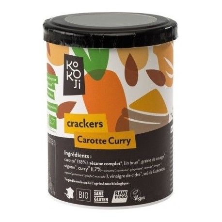 crackers carotte curry 80 g