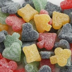 1 KG Gommes Poker Fruits sans sucre ajouté De Bron