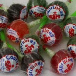 100 Sucettes boules au goût de fruits sans sucre