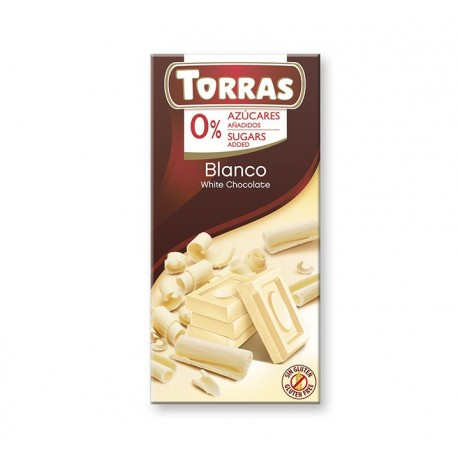 Chocolat blanc Torras 75 g