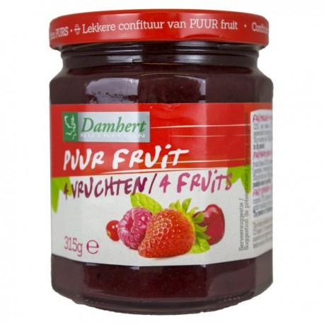 Confiture de 4 fruits pur fruit