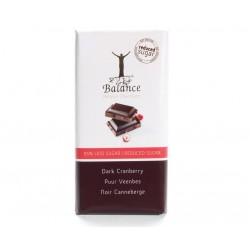 Tablette de Chocolat Belge Noir et Cranberries Balance