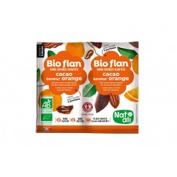 Bioflan orange chocolat sans sucre